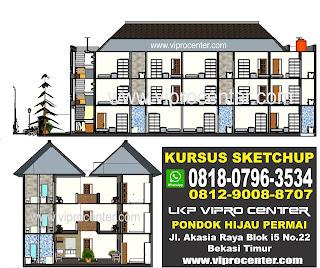 Tempat Kursus SketchUp Bersertifikat Terdekat di Bekasi Vipro Center